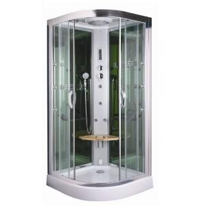 cabine de douche en bois affordable douche sauna hammam. Black Bedroom Furniture Sets. Home Design Ideas