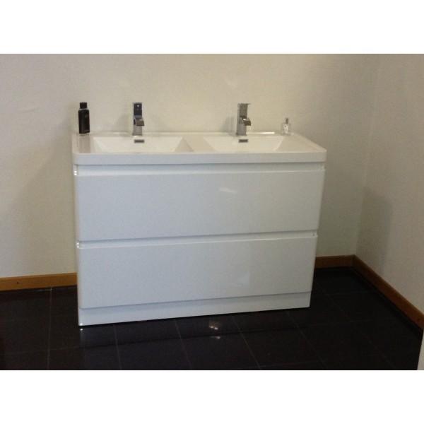 Tout faire sablemat mat riaux vente sanitaire meuble de salle de bain r - Meuble salle de bain blanc laque ...